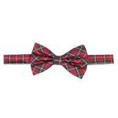 Галстук бабочка Scottish Tartan Check Red & White